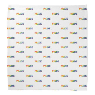 Gay pride d'arc-en-ciel sur le blanc bandana