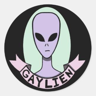 Gaylien [AUTOCOLLANT] Sticker Rond