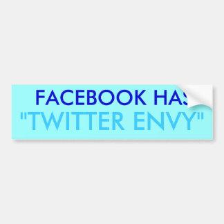 Gazouillement d'envie de Facebook Adhésif Pour Voiture