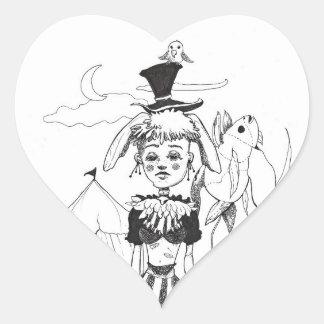 """""""G'bye autocollant en forme de coeur de mon clown"""""""