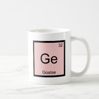 GE - T-shirt de Meme de symbole d'élément de Mug Blanc