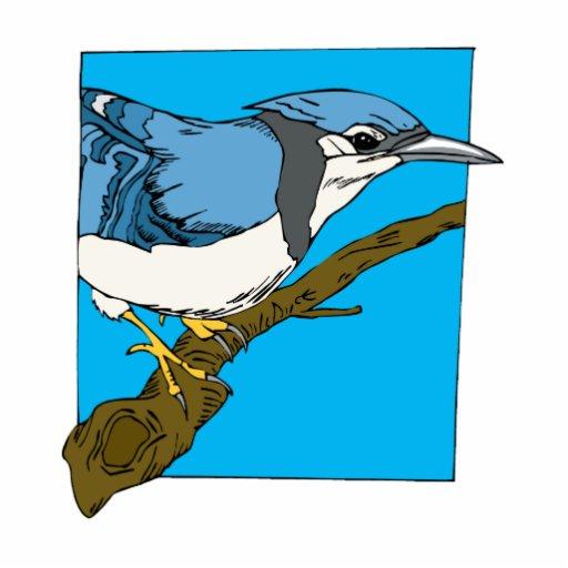 Geai bleu de Bart Découpage En Acrylique