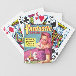 Géante dans une robe de lavande jeu de cartes