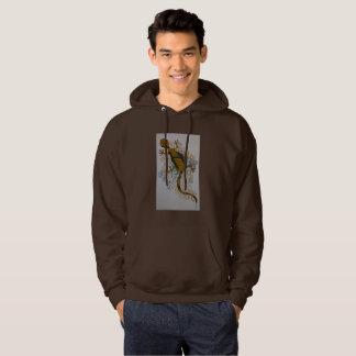 Gecko dans le noir et le brun veste à capuche