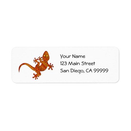 Gecko de Gordon Étiquettes D'adresse Retour