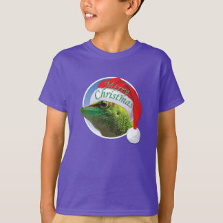 Gecko de Noël - T-shirt de base de Hanes des