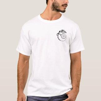 Gecko en spirale t-shirt