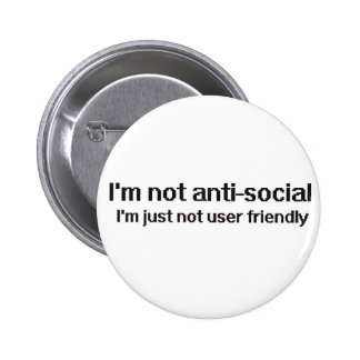 Geek antisocial de technicien pin's avec agrafe