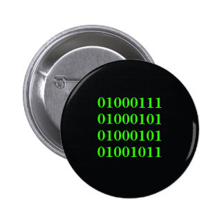 GEEK - bouton binaire Badges