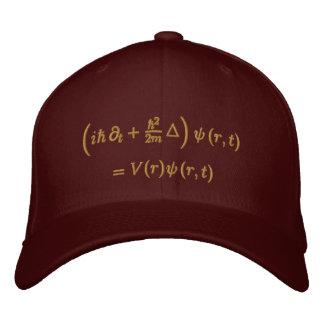 Geek : Casquette, équation de Schrodinger, sisal Casquette Brodée