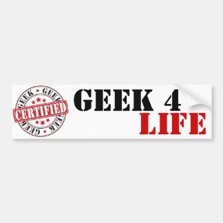 Geek certifié autocollant de voiture