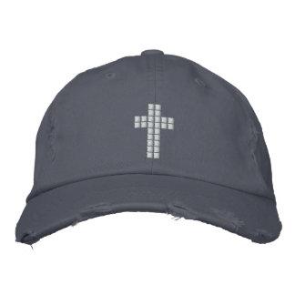 Geek chrétien - casquette croisé de pixel casquette brodée
