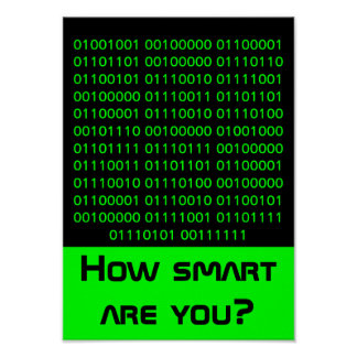 Geek… combien futés êtes vous posters
