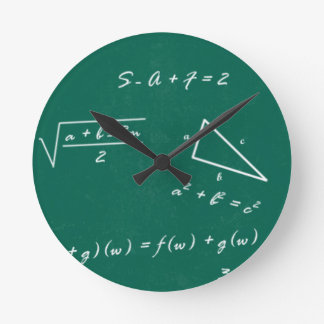 geek d'algèbre de professeur de maths horloge ronde
