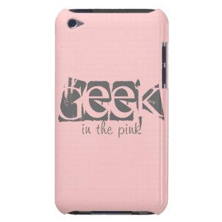 Geek dans le Coque-Compagnon rose de contact d iPo Étui iPod Touch