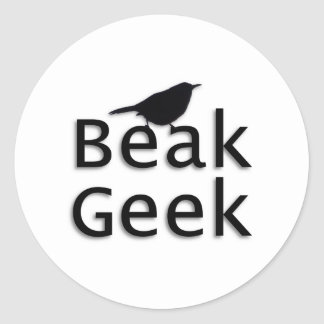 Geek de bec-- Roitelet Autocollants Ronds