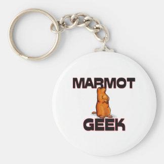 Geek de Marmot Porte-clé Rond