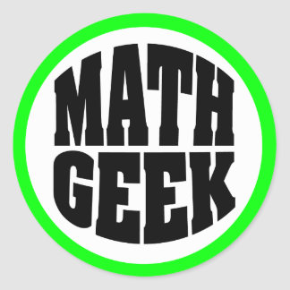 Geek de maths sticker rond