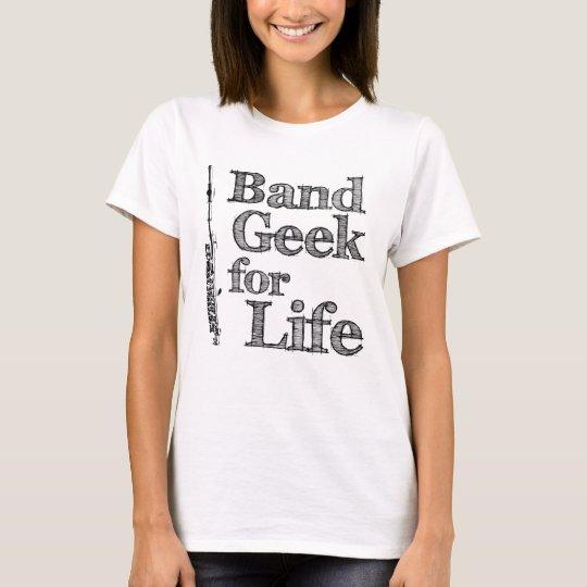 Geek de petite flûte de bande t-shirt