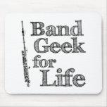 Geek de petite flûte de bande tapis de souris