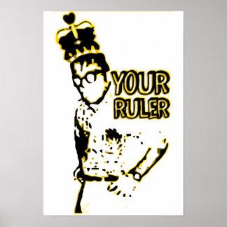 Geek de roi votre règle poster