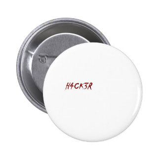 geek de technicien de pirate informatique de h4ck3 badge rond 5 cm