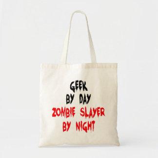 Geek de tueur de zombi tote bag