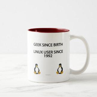 Geek depuis la naissance. Utilisateur de Linux Mug Bicolore