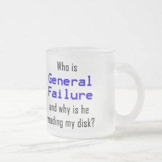 Geek d'ordinateur drôle mug en verre givré