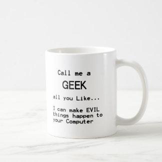 Geek d'ordinateur mug blanc