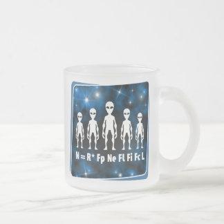 Geek étranger de civilisations d'équation de Drake Mug En Verre Givré