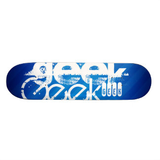 Geek frais ; Rayures bleues royales Plateaux De Skate