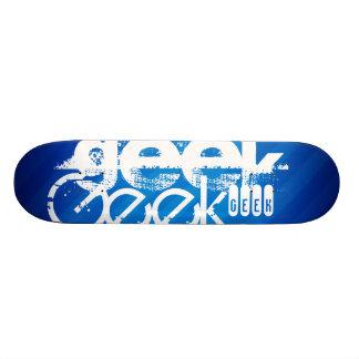 Geek frais ; Rayures bleues royales Plateaux De Skateboards Customisés