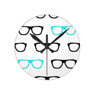 geek geeky de bleu en verre horloge ronde