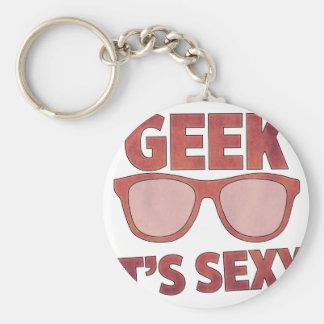 geek il est sexy porte-clés