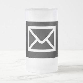 Geek IL tasse en verre d'email de travail