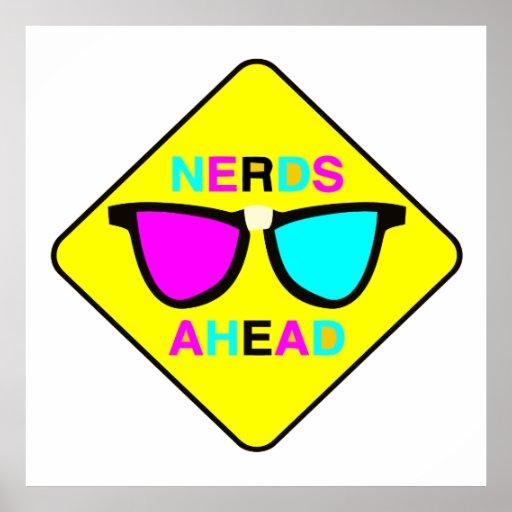 geek nerd des ballots en avant CMYK de zone Posters