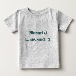Geek : Niveau 1 T-shirt Pour Bébé
