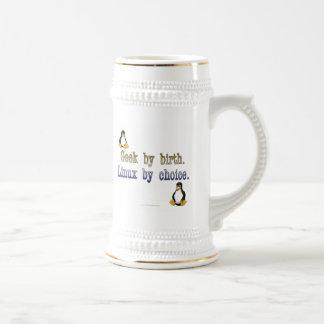 Geek par naissance. Linux par choix Chope À Bière