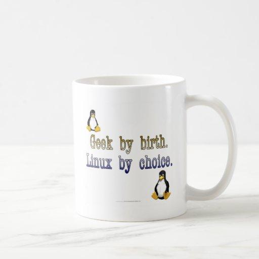 Geek par naissance. Linux par choix Mug À Café