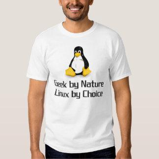 Geek par nature Linux par choix T-shirt