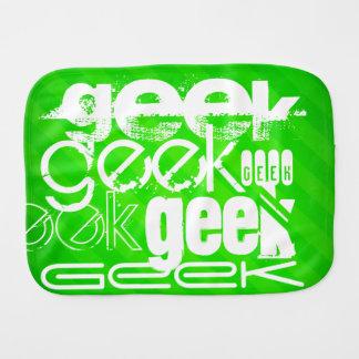 Geek ; Rayures vertes au néon Linges De Bébé