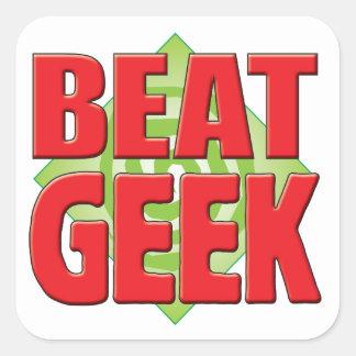 Geek v2 de battement autocollants carrés