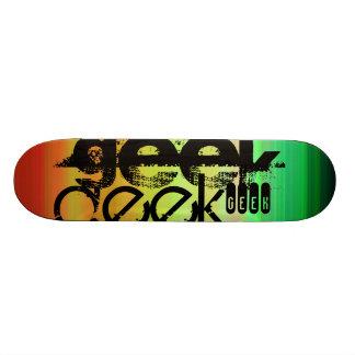 Geek ; Vert, orange vibrants, et jaune Skateboard 20 Cm