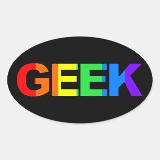 Geeky et pédé As Sticker Ovale