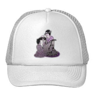 Geisha argenté casquettes