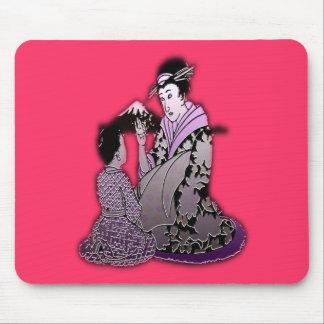 Geisha argenté tapis de souris