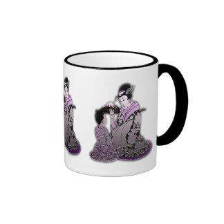 Geisha argenté tasse à café