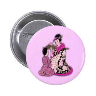 Geisha Badge Avec Épingle
