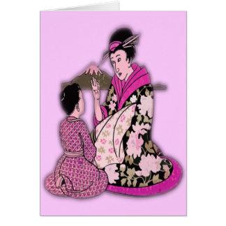 Geisha Carte De Vœux